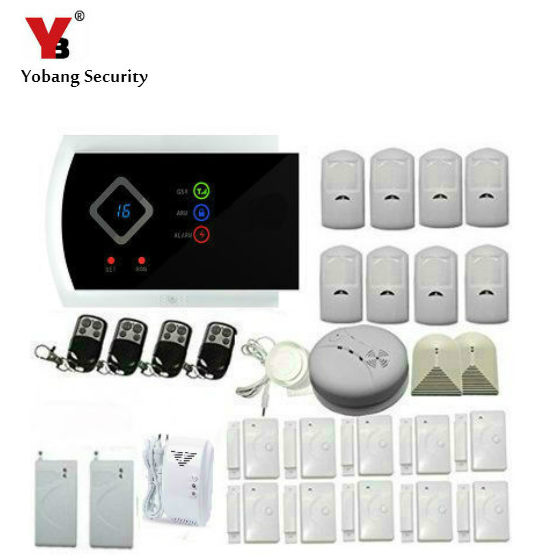 YobangSecurity Russian Spanish Italian Slovak Wireless GSM Home Security Alarm System with Smoke Fire Detector IOS/Android APP wireless smoke fire detector for wireless for touch keypad panel wifi gsm home security burglar voice alarm system