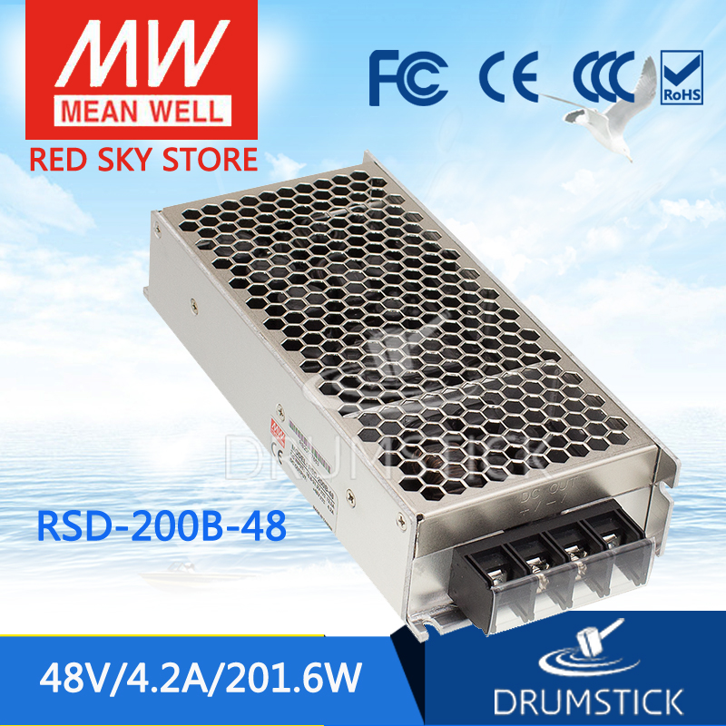 MEAN WELL original RSD-200B-48 5V 4.2A meanwell RSD-200 5V 200.4W Railway Single Output DC-DC Converter