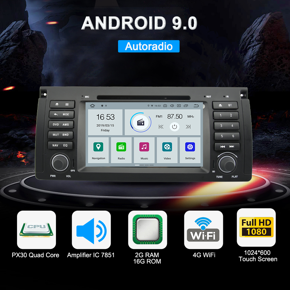 Android 9 0 Car Radio For BMW 5 Series X5 E53 E39 M5