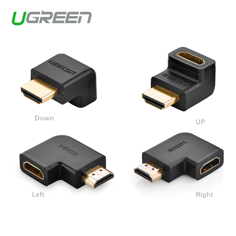 Ugreen HDMI male to HDMI female cable adapter converter extender 90 degrees angle <font><b>270</b></font> degrees angle for 1080P HDTV hdmi adapter image