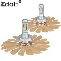 Zdatt Fanless Car Led Light ZES 100W 12000LM Headlights H4 Led Bulb H1 H7 H8 H11