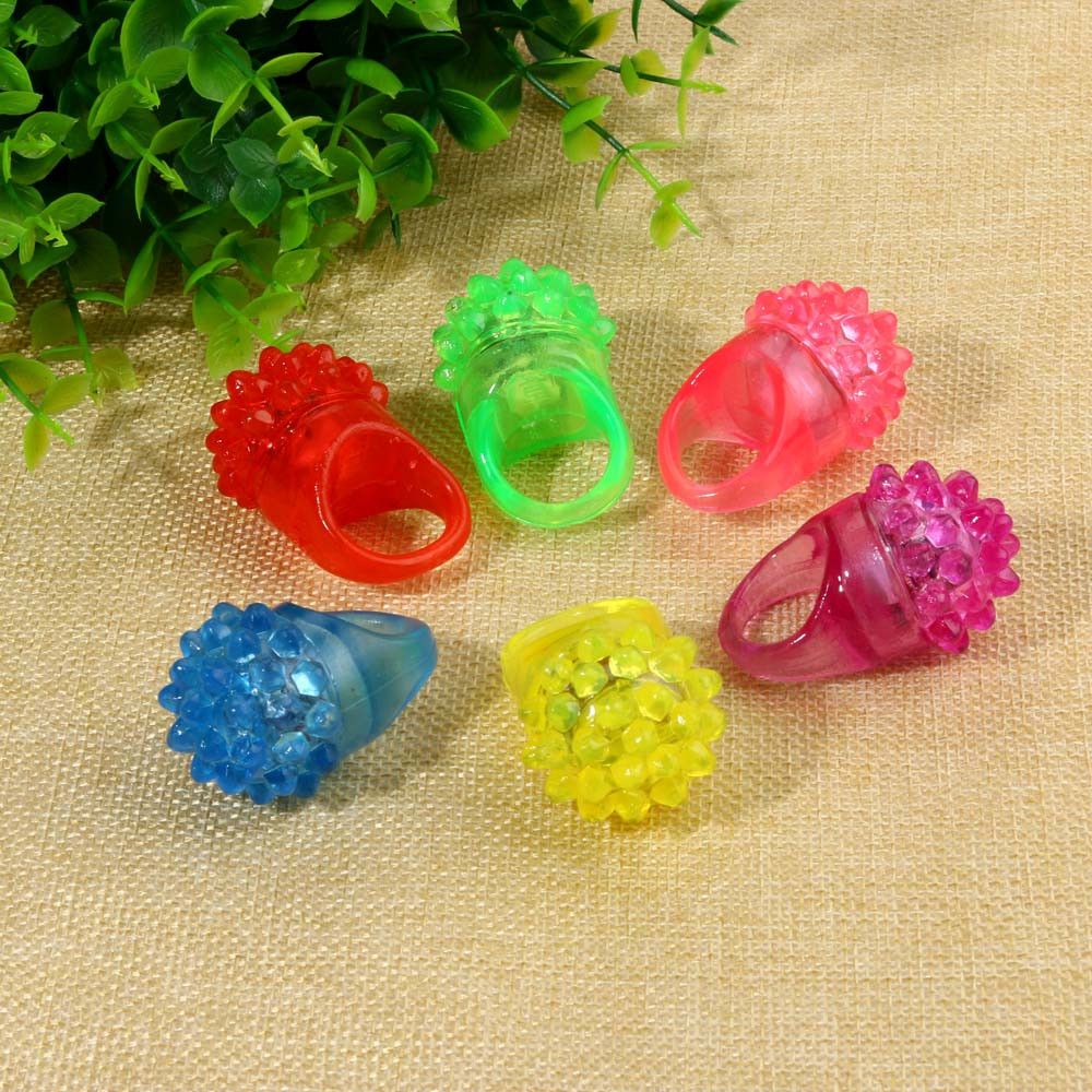 18 Pack Led Rubber Rings For Party Favors Jelly Bubble Light Up Finger Toy Education Toy ...