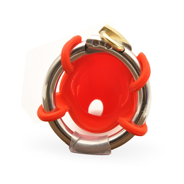4 colores hombres ajustable de pene de silicona pene bloqueo de Polla hombre Dispositivo de bloqueo Castidad jaulas castidad cerraduras ad9bb1