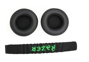 Image 2 - 1 Set Replacement Headband Head band parts + Ear pads Cushion For Razer Kraken Pro 7.1 or Electra Gaming Headphones
