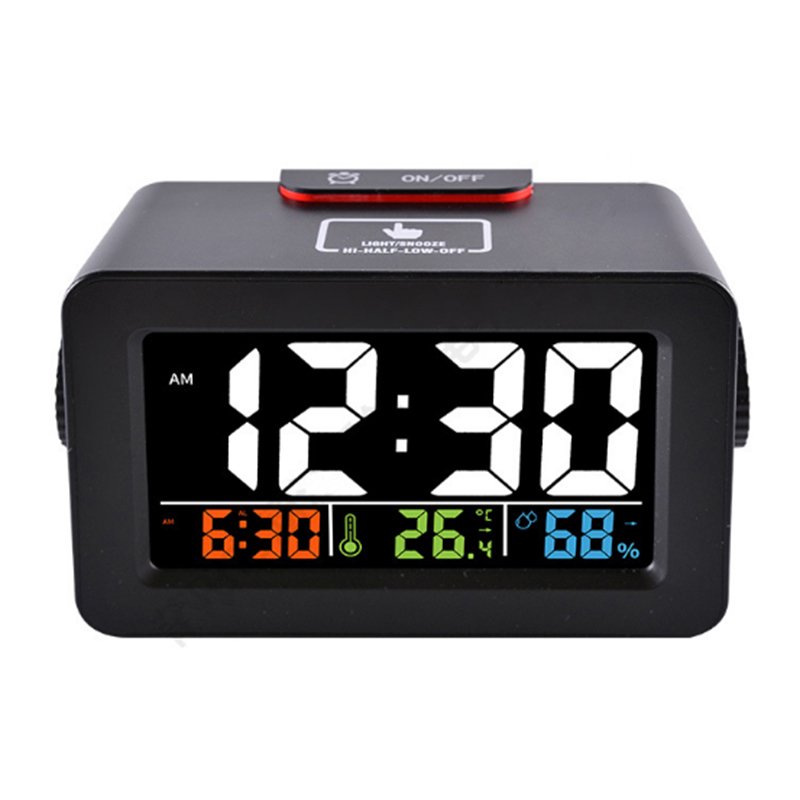 EAAGD Alarm Clock Multifunction Easiest Set Digital Clocks Thermometer Hygrometer Night Light with USB Port for Phone Charge