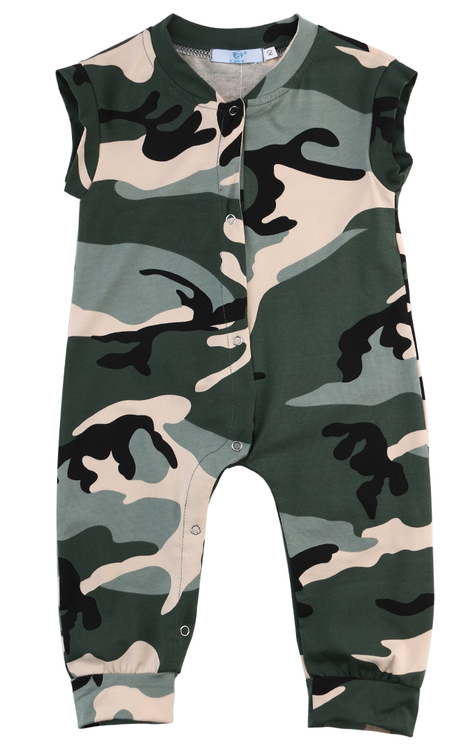 0-3Y Newborn Infant Baby Boys Summer Clothes Camouflage Sleeveless Romper Jumpsuit Playsuit Outfits Clothes 2017 baby rompers for newborn infant baby boys outfit clothes cotton romper sleeveless jumpsuit hooded black boys romper outfits
