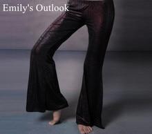 הדפסה פעמון תחתון בטן ריקוד שבטי תלבושות מכנסיים ATS תחתונים מכנסיים חום שחור אפור M L משלוח חינם