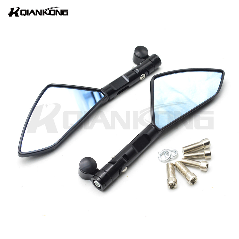 New Arrival Pair Motorcycle Rear View Mirrors Universal Chrome Oval Side Mirrors For kawasaki z800 sportster z800 car-covers ktm