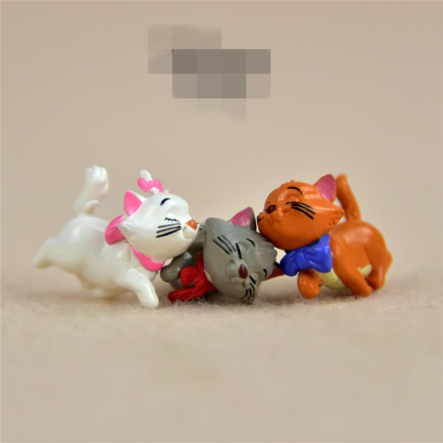 48pcs lot 2 5cm cute walking Marie Cat very small figure toys marie cat diy figure