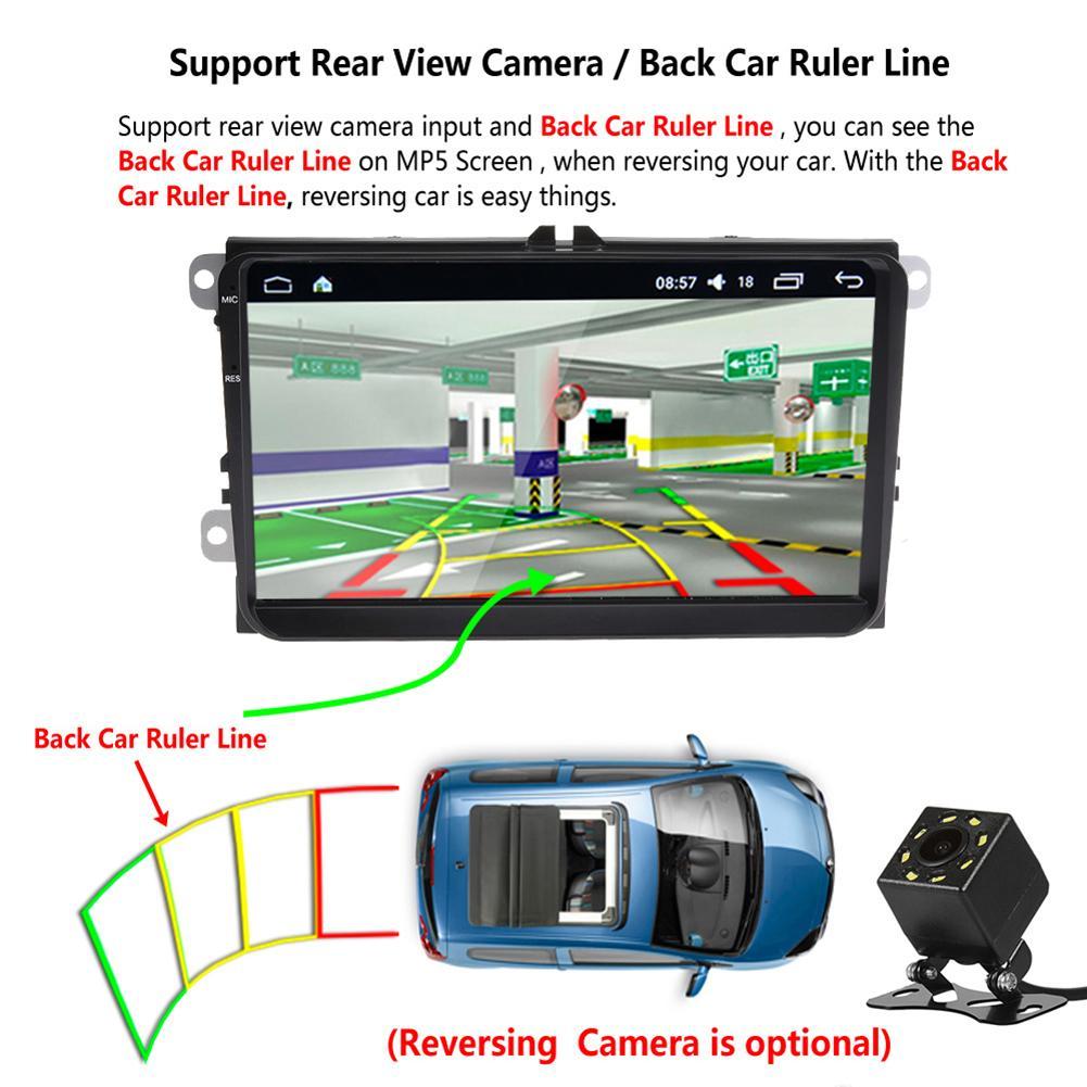 2 Din Auto 9 pulgadas Radio Android 6,0 GPS Tracker para volkswagen cámara de Vista trasera WIFI HD Control de dirección multijugador