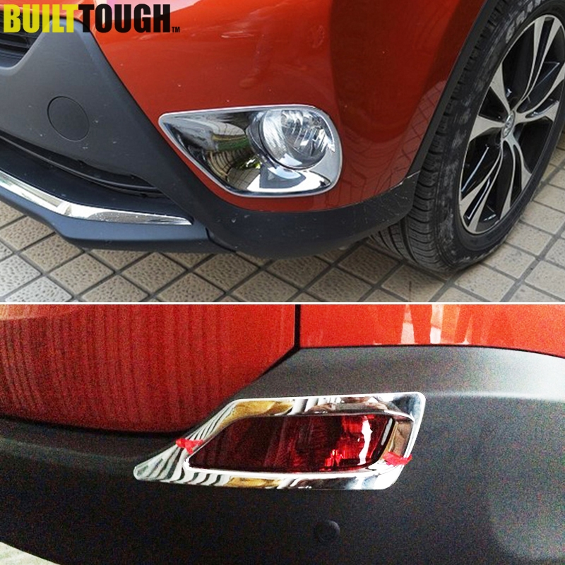 Fit For Toyota RAV4 2013 2014 2015 Chrome Front + Rear Fog Light Lamp Foglight Cover Trim Bumper Garnish Molding Bezel Ring 2in1-in Chromium Styling from Automobiles & Motorcycles on AliExpress - 11.11_Double 11_Singles' Day 1