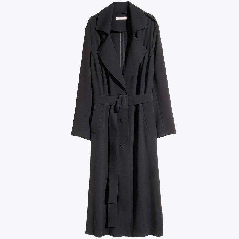 e57bd7b74f7 Kissmilk Plus Size Solid Black Single Breasted Sash Women Warm Coat ...