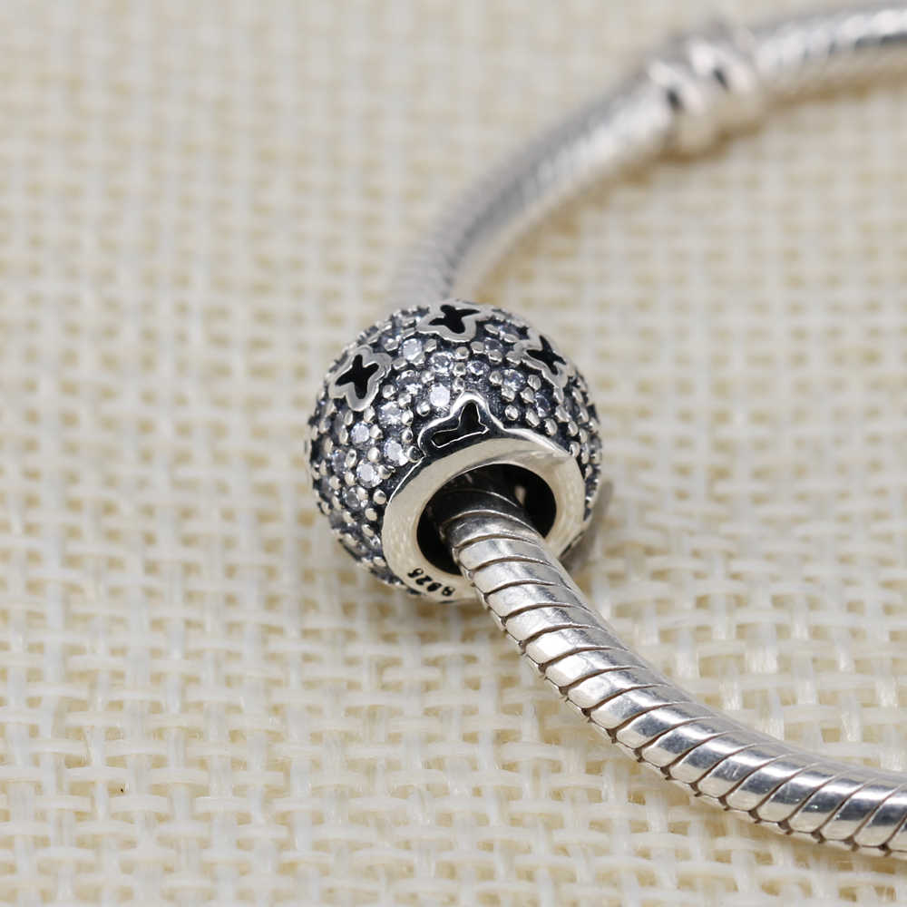43ef6d5ac ... Authentic 925 Sterling Silver Bead Charm Hollow Out Butterfly Crystal  Beads Fit Pandora Bracelets & Bangles