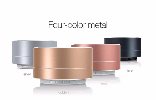 Wirelesss A10 LED glowing receptor Bluetooth Hands-free Music Player de metal Bluetooth speaker Para iPhone xiaomi Oppo