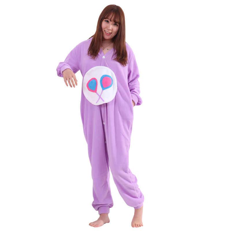 ... Purple Care Bears Onesie Kigurumi Cartoon Animal Pajamas Women Girl  Adult Lovely Sleepwear Winter Long Sleeve ... 0a753a2cf