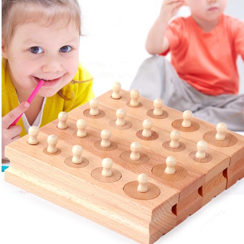 Montessori Educational Wooden toys Puzzle Cylinder Socket ...