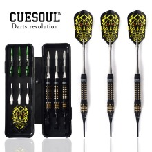 2015 New Cuesoul 16.04 Grams Soft Tip Brass Barrels Darts Set With Aluminum Shafts and Case