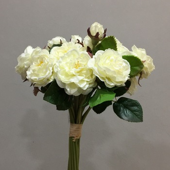 3pcs 29cm Bouquet Of Small Rose Upscale Artificial Flower Elegant Wedding Ceremony Bride Hand Tied Bouquet Symbol Of Pure Love
