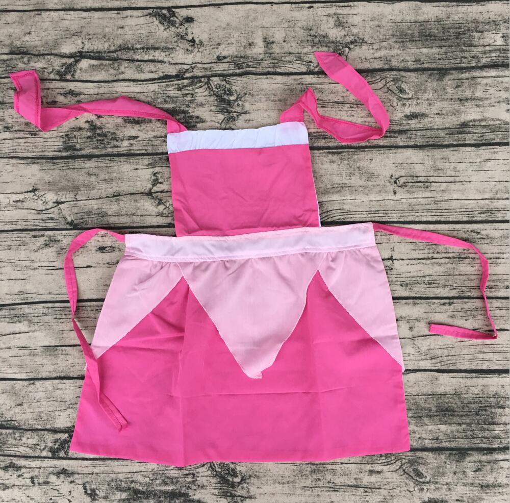 Bulk wholesale mommy and me kitchen apron set baby girl ruffle cotton ruffle cotton factory kids patterns princess