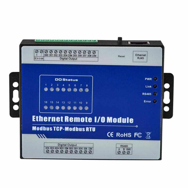 RS485 Serial port to Ethernet Remote IO Module supports Modbus RTU/ASCII Master High Speed Pulse Output Stepper motor Control