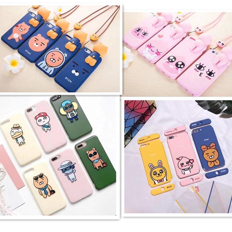 YoneShone Kawaii Korean Cartoon Print Funny Phone Case Women Girls boys Case for iphone8 6 6s 7 7 Plus fashion punk Mirror Cover