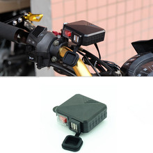 Waterproof 12V-24V Motorcycle Car GPS MP3 Mobile Phone Dual USB Power Socket Charger With Switch For Harley Honda Yamaha Suzuki