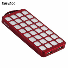Easyacc Solar 8000mAh Power Bank 18650 External Battery with Flashlight Charger Powerbank For Mobile Phones and Tablets Outdoor