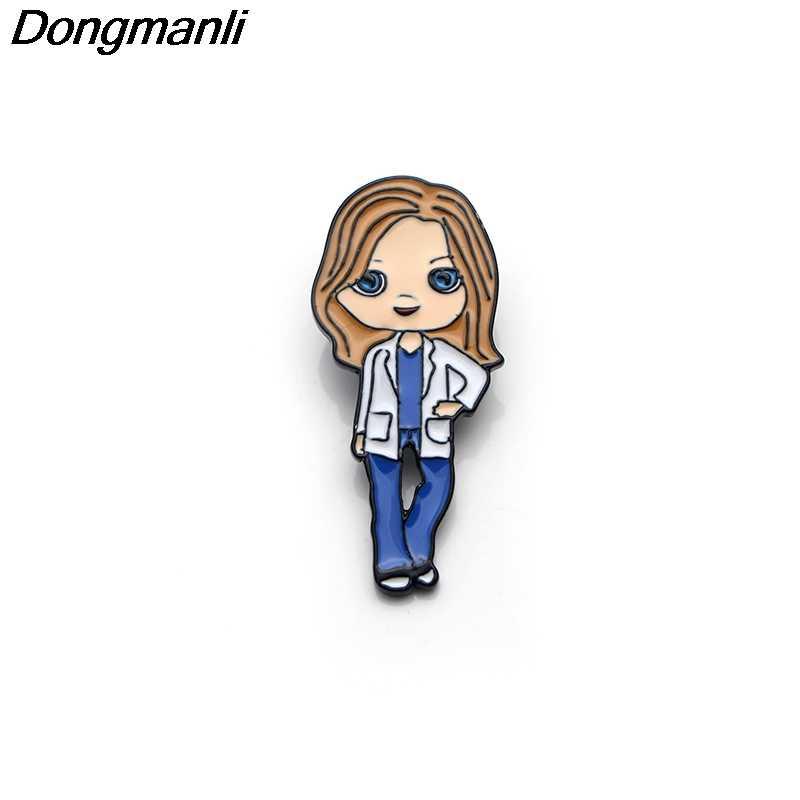 P3553 Dongmanli Medis Grey 'S Anatomy Acara TV Logam Enamel dan Bros untuk Fashion Kerah Pin Tas Ransel Lencana hadiah