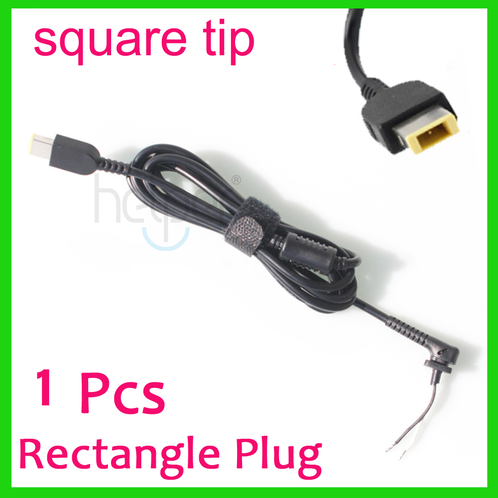 цена на USB Square yellow pin DC Power Charger Plug Cable connector for lenovo IBM Laptop adapter Square Interface DC cable