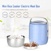 2L Mini Rice Cooker Electric Meal Box Lunch Box Thermal Insulation Lunch Box Portable Electric Heating Steamer Egg Rice Cooker