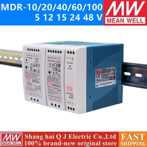 MEAN WELL MDR-10 20 40 60 100 - 5 12 15 24 48 meanwell MDR -10 -20 -40 -60 -100 W 5 12 15 24 48 V Output Industrial DIN Rail