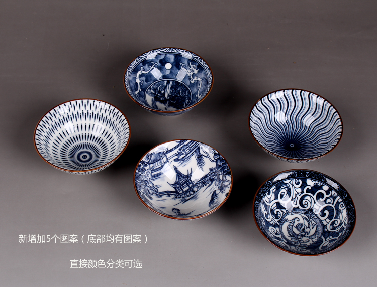 1PCS Chinese Ceramic Kung Fu Blue and White Porcelain Kung Fu Tea Cup Kitchenware in Teacups from Home Garden