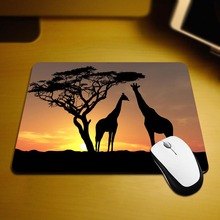 MaiYaCa Giraffes In The Sunset Mouse Mats Computer