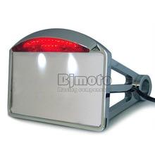 LPL-014-CR chrome Plaque moto montage latéral queue essieu lumière chopper de plaque d'immatriculation support pour Harley