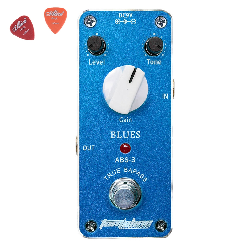 Aroma ABS-3 Mini Blues Electric Distorti Guitar Effect Pedal Aluminum Alloy Pedals Effects True Bypass Guitar Accessories mooer ensemble queen bass chorus effect pedal mini guitar effects true bypass with free connector and footswitch topper