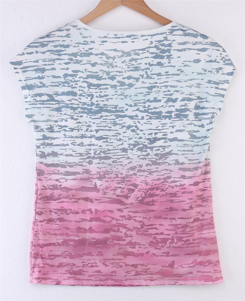 HTB15ZYTKFXXXXbeXVXXq6xXFXXXs - New gradient Simple T Shirt Women's Tees Plain Cotton
