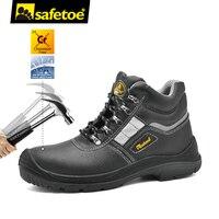 Safetoe מותג גברים נעלי עבודת נעלי בטיחות כובע הבוהן פלדה קל משקל לנשימה הנעלה S3 העבודה בטיחות גודל 37-46