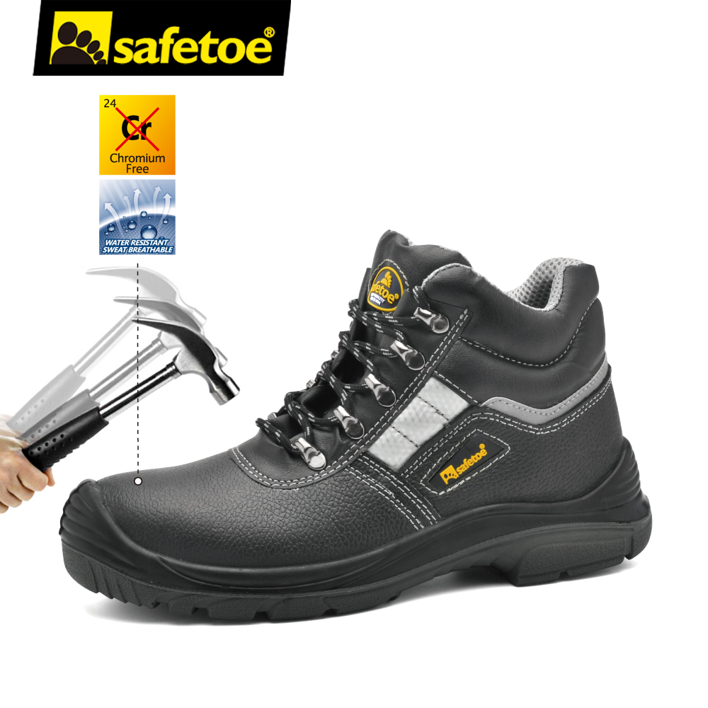 Safetoe Brand Safety Shoes Work Boots Men Steel Toe Cap Light Weight Breathable Working Safty Footwear S3 Size 37-46