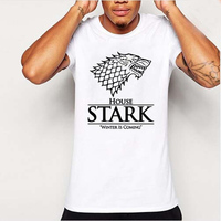 Summer Winter Is Coming T Shirt Men Short Sleeve Cool Tee Shirts Game Of Thrones The
