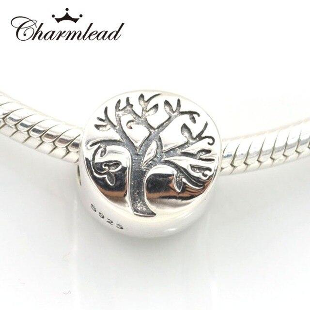 Convient Pandora Charms Bracelet 925 En Argent Sterling Perles Vie Arbre  Charme Perle DIY Faire Des