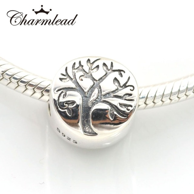 4de2ded10 Fits Pandora Charms Bracelet 925 Sterling Silver Beads Life Tree Charm Bead  DIY Making Necklaces & Pendants Jewelry Charmlead