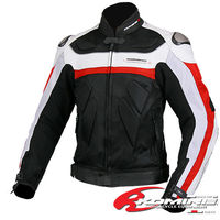 Free Shipping KOMINE JK 021 The Titanium Leather With Mesh Racing Suits Motorcycle Clothing 2Color