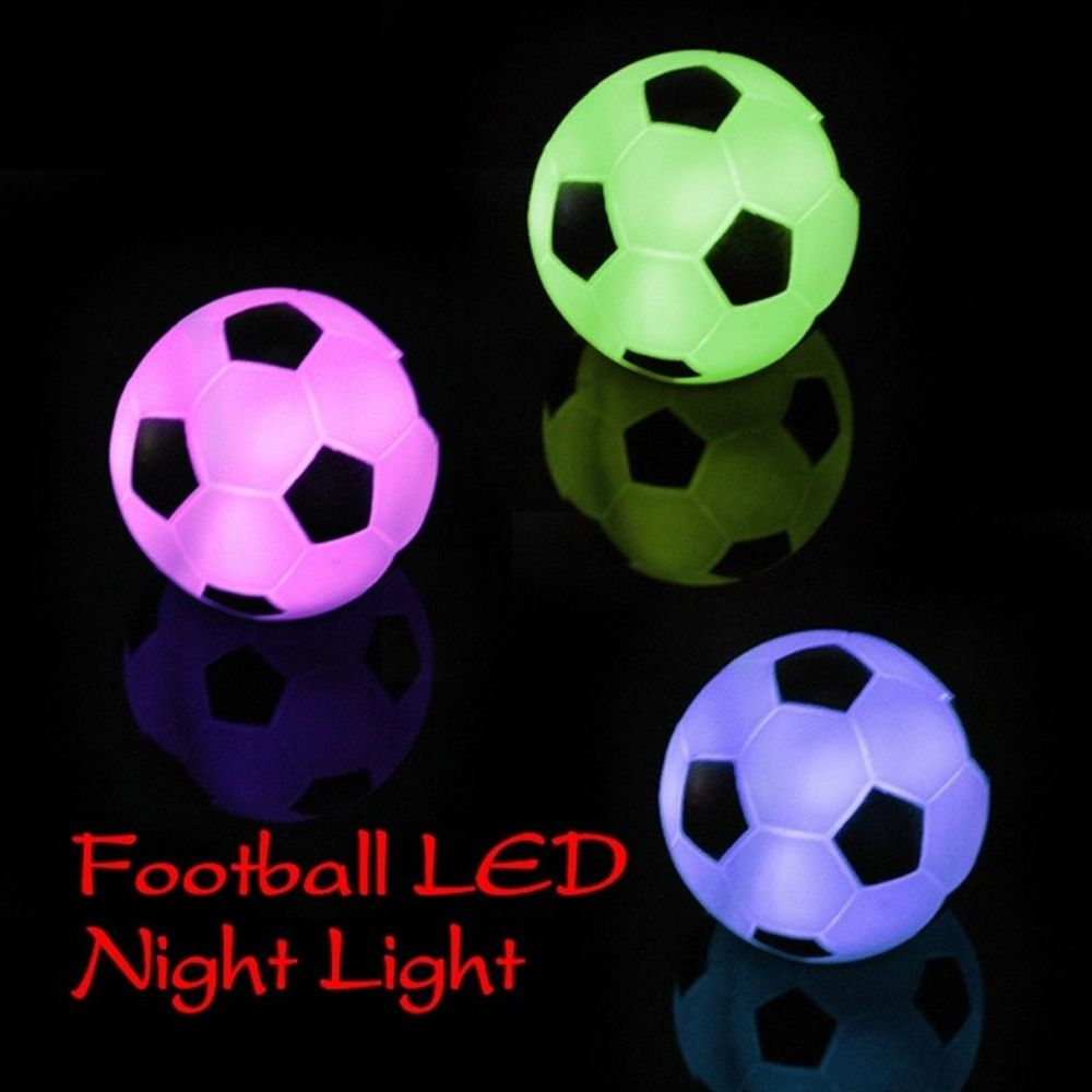New Hot Promotion LED Football Lamp Shape Changing Color Night Light Mood Party Christmas Decoration GIft