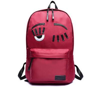 Milan Fashion Blogger Chiara Ferragni Favorites Backpack Cute Eyes Nylon Waterproof Backpack School Bags For Girls