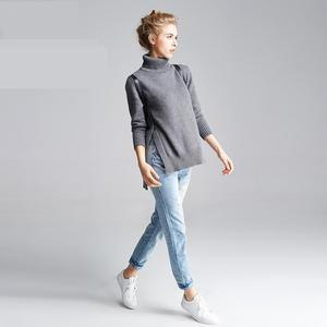 New Turtleneck Sweater Womens Solid Full Thin Lady Knitted Winter Women Sweaters And Pullovers Sueter Mujer Feminino 2017