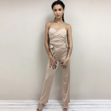 Solid wrap strapless Jumpsuit
