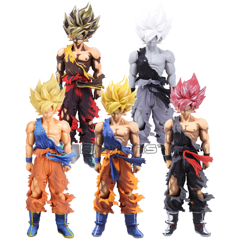 Dragon Ball Z Super Master Stars Piece The Son Goku PVC Figure Collectible Model Toy 5 Styles 34cm anime dragon ball z super master stars piece the vegeta black ver pvc action figure collectible model toys big size 33cm doll