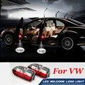 2X Car Weclome Luz la Sombra del Fantasma de la Puerta Proyector de la Insignia Para VW Passat B7 B6 Jetta MK5 MK6 CC Tiguan EOS Golf 5 6 7