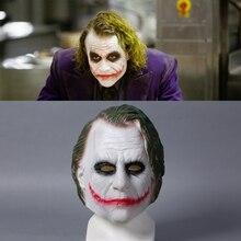 Темный рыцарь Джокер Бэтмен Косплей Латекс шлем супергероя Хэллоуин отряд самоубийц Джокер Косплей Маска костюм для мужчин