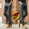 Winer, Además de Terciopelo de Los Hombres Más Gruesos Pantalones Vaqueros Calientes Pantalones de Cintura Alta Pantalones Vaqueros Jeans Stretch Denim Pantalones de Invierno Pantalones Vaqueros Del Lápiz